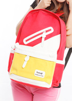 Preppy style canvas backpack women casual school bag female many color available