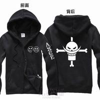 New One piece anime cosplay costume white beard Portgas.D.Ace fleece cardigan hoodies coat jacket