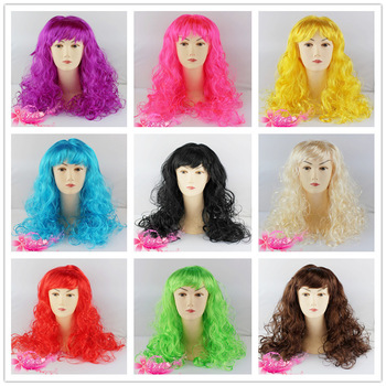 160g masquerade halloween supplies wig hair set curly hair long curly hair 9 colors one piece/lot