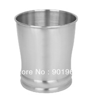 Hot sell Home hotel room bathroom stainless steel 8L dustbin wastebin rubbish bin-2pcs/lot