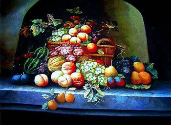 Free shipping 2014 new wall decor pictures for Dining room,All kinds of delicious Fruits, Reproduction of  archaic oil painting