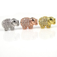 CZ-160 New Design Zircon micro inlay Elephant Necklace Pendant  CZ  micropave Beads,Jewelry Pendant,Brass CZ Accessories