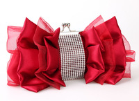 women messenger bags women handbags wedding bags 2013 red/white silks and satins bridal/bridesmaid bag evening bags
