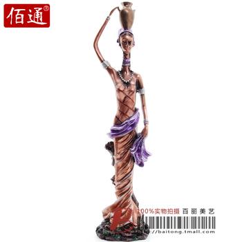 Fashion bottle lady figure sculpture resin craft decoration fashion home accessories