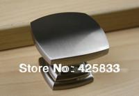 8pcs Single Square Brushed Nickel Cabinet Handles Kitchen Knobs and Drawer Kids Dresser Pulls Shoe Door Closet Pulls