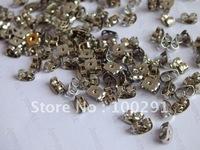 Free ship!!!2000piece Steel Metal Color Jewelry Earring back Earring Stopper Findings
