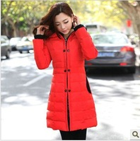 2013 wadded jacket down cotton-padded jacket slim medium-long plus size cotton-padded jacket