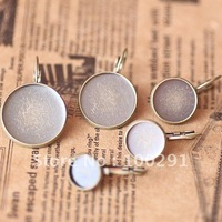Free ship!!! 10mm 1000pcs/lot Antique Brass Tone earring hooks Flat Round Pad NICKEL FREE JEWELRY FINDINGS