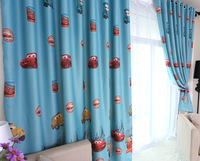 Free shipping Florid curtain cartoon child real eco-friendly shade cloth curtain boy