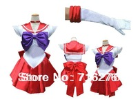 Kisstyle Fashion New Anime Pretty Soldier Sailor Moon Sailor Mars Japanese Anime Cosplay Costume female halloween party Any Size
