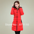 Trend Knitting  High Quality Winter Warm Women's Long Coat fashion Cotton Down slim Dust coat jacket Size XL-XXXL