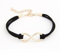 SL007 Min.order Is $10(mix order)Free Shipping Fashion Infinity bracelet Eight cross bracelet bangle jewelry