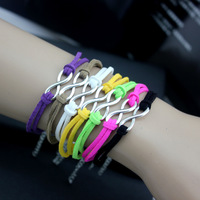 2013 hot mix color  60pcs Accessories fashion alloy 8 multicolor bracelet anchor female b198