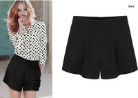 2013 New Fashion Black Loose Shorts Women's Plus Size Hot Shorts Summer Autumn Cool S - XXL Shorts Pants Free Shipping bf0028