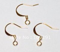 2000piece/lot Jewelry Earring Findings gold plated Earring hook Earring Wire Nickel Free!!!