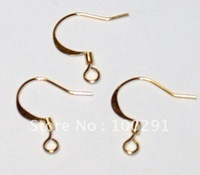 2000piece/lot Jewelry Earring Findings gold plated Earring hook Earring Wire Nickel Free!!!