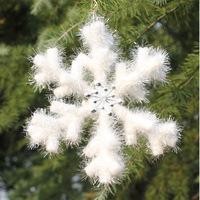 Christmas decoration foam hexagonal snow flakes decor