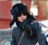 New  Men's Winter Fur Hats /Bomber Hat  Earflaps For Men Warm Acrylic-Wool Caps/Hat Hot Sell Free Shipping