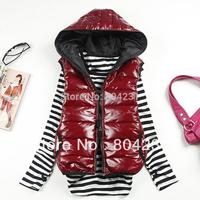 Women vest 2014 Autumn Winter fashion vests woman sleeveless warm coat free shipping wholesale