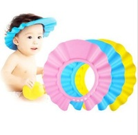 1PC Blue/Pink/Yellow Adjustable Shower Cap Kid Baby Children Safety Shampoo Cap Wash Hair Shield Hat Bath Shower Waterproof Caps