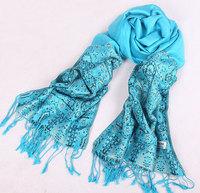Hot-selling heavy silk women's ultra plus cotton long scarf large cape multicolor