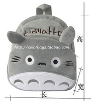 Plush toy bags child backpack baby school bag cartoon school bag backpack totoro