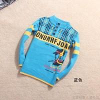 2013 pitfall child plaid buckle boy child sweater