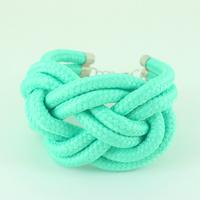Hot Sale neon color knot art design rope choker bracelet antique jewelry  KK-SC105 Wholesale Free Shipping