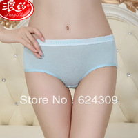 Free shipping Langsha underwear Sports and leisure Wide waist edge Hip Briefs 6 Gift Box Preferential Sweat Breathable Health