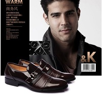 New 2013 men shoes free shipping Business fashion genuine leather shoes casual shoes ZJ-2883