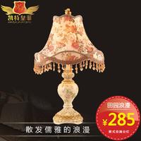 Kate quality fashion table lamp princess rustic resin rustic fabric simple european table lamp ofhead