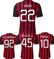 Acura Thai version 13-14 ac milan short-sleeved shirts soccer uniform home jerseys 22, KAKA