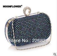 Top Luxurious Women messenger bag With Rhinestone Fashion Ladies Bags Elegant new 2013 women day clutches women's evening bag