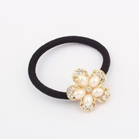 Free shipping!Korean fashion pearl flower ring!#1492