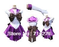 New Anime Pretty Soldier Sailor Moon Sailor Saturn Japanese Anime Cosplay Costume female halloween party Any Size
