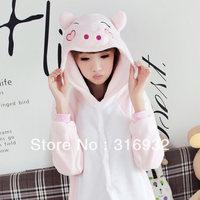 K2 Flannel pink pig animal sleepwear cartoon autumn and winter  fleece long-sleeve female lounge