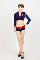 Gorgeous female police uniform sexy clothes sexy stewardess clothing ol marine