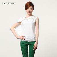 Female summer 2013 diary original design women's personality slim short-sleeve t-shirt female