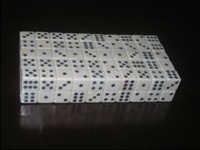 12mm white right angle dice 7 bag 100