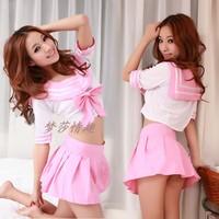 The temptation to set sexy student uniforms pink sailor suit student clothes