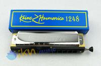 High Quality 12 Hole 24 Tone Chromatic Harmonica/Chromonica Chrome