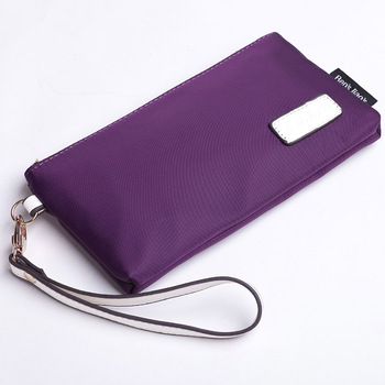 travel first aid bag Purple waterproof day clutch horizontal square coin purse nylon canvas bag solid color casual tote bag