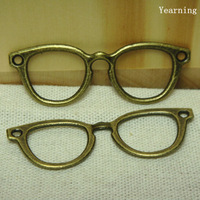 Yearning Free Shipping Jewelry Retro Alloy Bronze DIY Glasses Connector Charms Pendants 55*19MM 50pcs/lot
