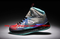 Free Shipping!2014 unisex LEBRON X 10 basketball shoes air cushion shock absorption sneakers for men sports shoes  eur36-46