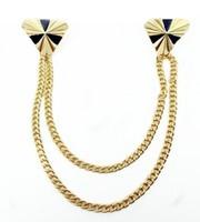 Fashion accessories delta-type delicate collar chain brooch accessories collar buckle brooch 11g