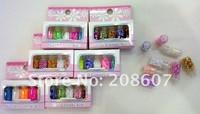 Free Shipping Nail Art Nail Decoration Nail Supplies 10sets/lot Gorgeous Nail Laser Sequins Flash Chip Glitter