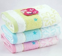 Free Shipping, 3pcs/Lot 100% Cotton Face Towel 72X34CM 95g/piece ,3 Colors , cheap and good quality from factory