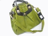 Women's bags osten cowhide one shoulder strap decoration fa867 green