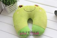 Cute Cartoon Frog Pattern Design Travel car home pillow, U shape Neck pillow / rest pillow