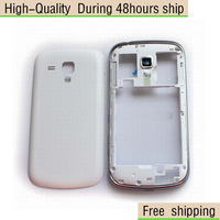 NEW White Black Housing Battery Cover Case Frame Part For Samsung Galaxy S Duos S7562 Free Shipping DHL HKPAM CPAM